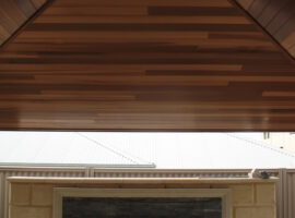 Cedar lined Hipped Patio Perth