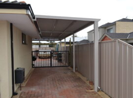Colorbond Corrugated Single Carport Balcatta