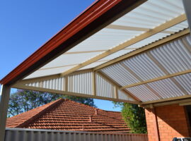 Corrugated Polycarbonate Gable Patio Bedford