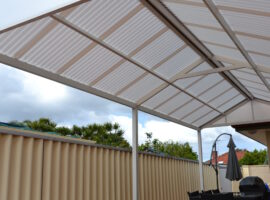 Corrugated Polycarbonate Gable Patio Glendalough