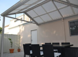 Corrugated Polycarbonate Gable Patio with Hip Innaloo