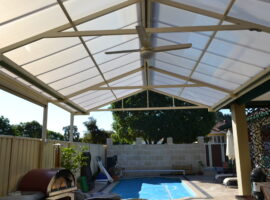 Multiwall Polycarbonate Gable Patio North Perth (3)