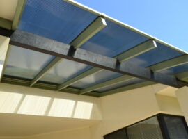 Twinwall Polycarbonate Flat Patio Woodlands (2)