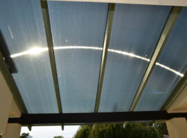Twinwall Polycarbonate Flat Patio Woodlands (3)