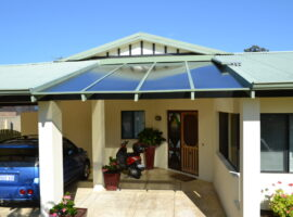 Twinwall Polycarbonate Flat Patio Woodlands
